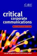 Critical Corporate Communications A Best Practice Blueprint