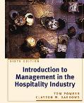 Intro.to Mgmt.in Hospitality Industry
