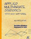 Applied Multivariate Statistics With Sas Software