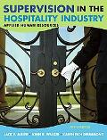 Supervision in the Hospitality Industry Applied Human Resources