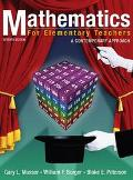 Mathematics for Elementary Teachers A Contemporary Approach