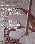 Technical Mathematics & Technical Mathematics with Calculus