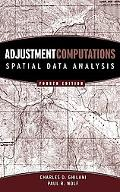Adjustment Computations Spatial Data Analysis