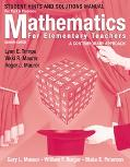 Mathematics For Elementary Teachers A Contemporary Approach, Student Hints And Solutions Man...