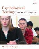 Psychological Testing A Practical Introduction