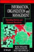 Information, Organization and Management Expanding Markets and Corporate Boundaries
