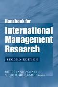 Handbook for International Management Research