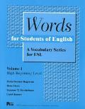 Words for Students of English A Vocabulary Series for Esl