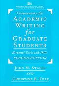 Academic Writing for Graduate Students Essential Tasks and Skills