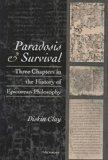 Paradosis and Survival Three Chapters in the History of Epicurean Philosophy