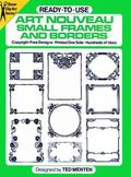 Ready-To-Use Art Nouveau Small Frames and Borders Copyright-Free Designs, Printed One Side, ...