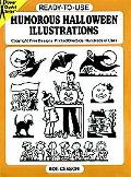 Ready-To-Use Humorous Halloween Illustrations Copyright-Free Designs, Printed One Side, Hund...