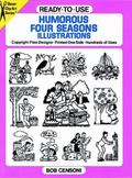 Ready-To-Use Humorous Four Seasons Illustrations Copyright-Free Designs-Printed One Side-Hun...