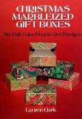 Christmas Marbleized Gift Boxes: Six Full-Color Punch-out Designs