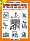 Ready-To-Use Humorous Illustrations of Trades and Services