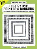 Ready-To-Use Decorative Printer's Borders 32 Different Copyright-Free Designs Printed One Side