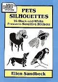 Pets Silhouettes 24 Black-And-White Pressure-Sensitive Stickers