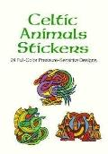 Celtic Animals Stickers 24 Full-Color Pressure-Sensitive Designs