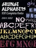 Grunge Alphabets 100 Complete Fonts