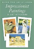 Impressionist Paintings 16 Art Stickers