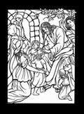 Life of Jesus Stained Glass Coloring Book