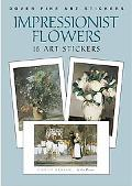 Impressionist Flowers 16 Art Stickers