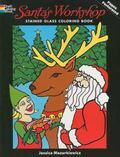 Santa's Workshop Stained Glass Coloring Book