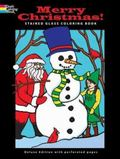 Merry Christmas Stained Glass Coloring Book