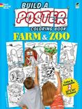 Build a Poster Coloring Book -- Farm and Zoo