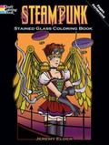 Steampunk Stained Glass Coloring Book