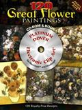 120 Great Flower Paintings Platinum CD-ROM and Book