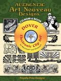 Authentic Art Nouveau Designs CD-ROM and Book