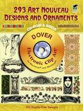 293 Art Nouveau Designs And Ornaments Electronic Clip Art