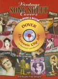 Vintage Song Sheet Covers Cd-rom and Book