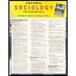 Study Card for Andersen/Taylor's Sociology: The Essentials, 5th