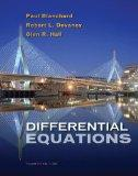 Student Solutions Manual for Blanchard/Devaney/Hall's Differential Equations, 4th