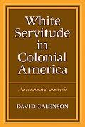 White Servitude in Colonial America: An Economic Analysis - David W. Galenson - Paperback