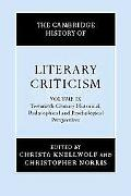 Cambridge History of Literary Criticism Twentieth-century Historical, Philosophical and Psyc...