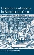 Literature and Society in Renaissance Crete