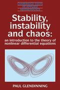 Stability, Instability and Chaos An Introduction to the Theory of Nonlinear Differential Equ...