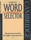 Cambridge Word Selector : English - Spanish