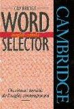 Cambridge Word Selector Angls-Catal... (English and Catalan Edition)