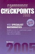 Cambridge Checkpoints Vce Specialist Mathematics 2005
