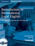 Introduction to International Legal English Student's Book with Audio CDs (2): A Course for ...
