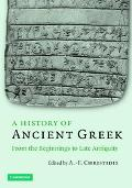 History Of Ancient Greek From The Beginnings To Late Antiquity