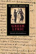 Cambridge Companion to Greek Lyric