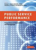 Public Service Performance Perspectives on Measurement And Management