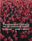 Fundamental Statistics for the Behavioral Sciences (with CD-ROM)
