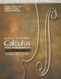 Student Solutions Manual for Stewart's Single Variable Calculus: Early Transcendentals