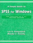Simple Guide to Spss for Windows Versions 8.0 and 9.0